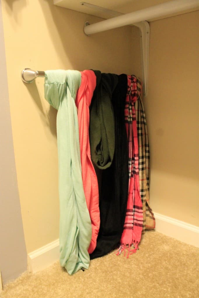 Store your scarves on a wall mounted towel rack - charleston crafted