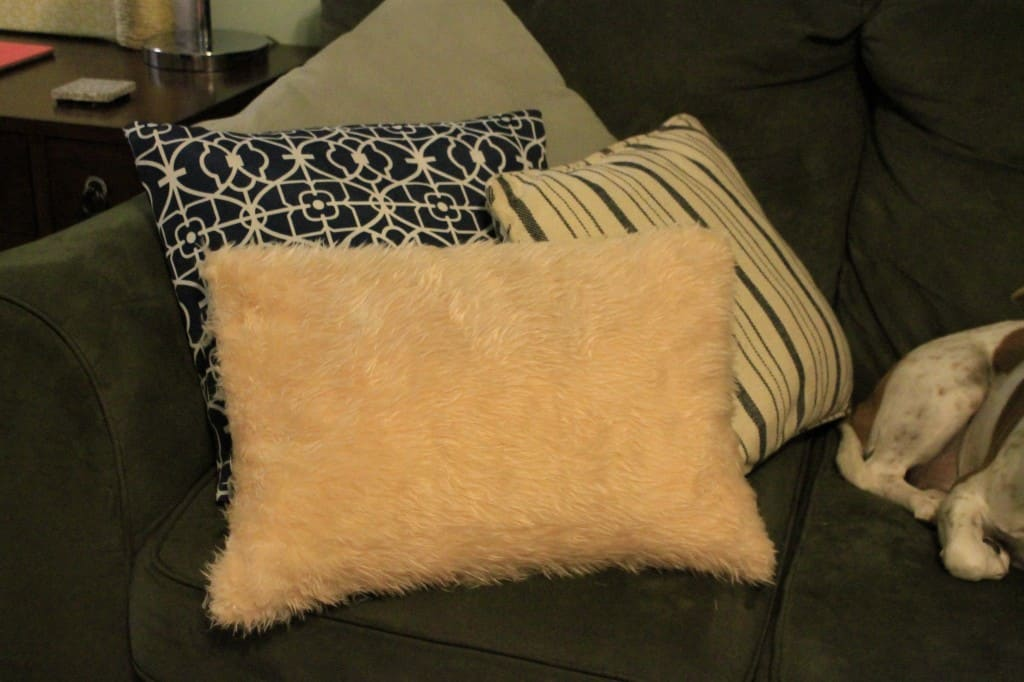 No Sew Faux Fur Pillow Cover - Charleston Crafted