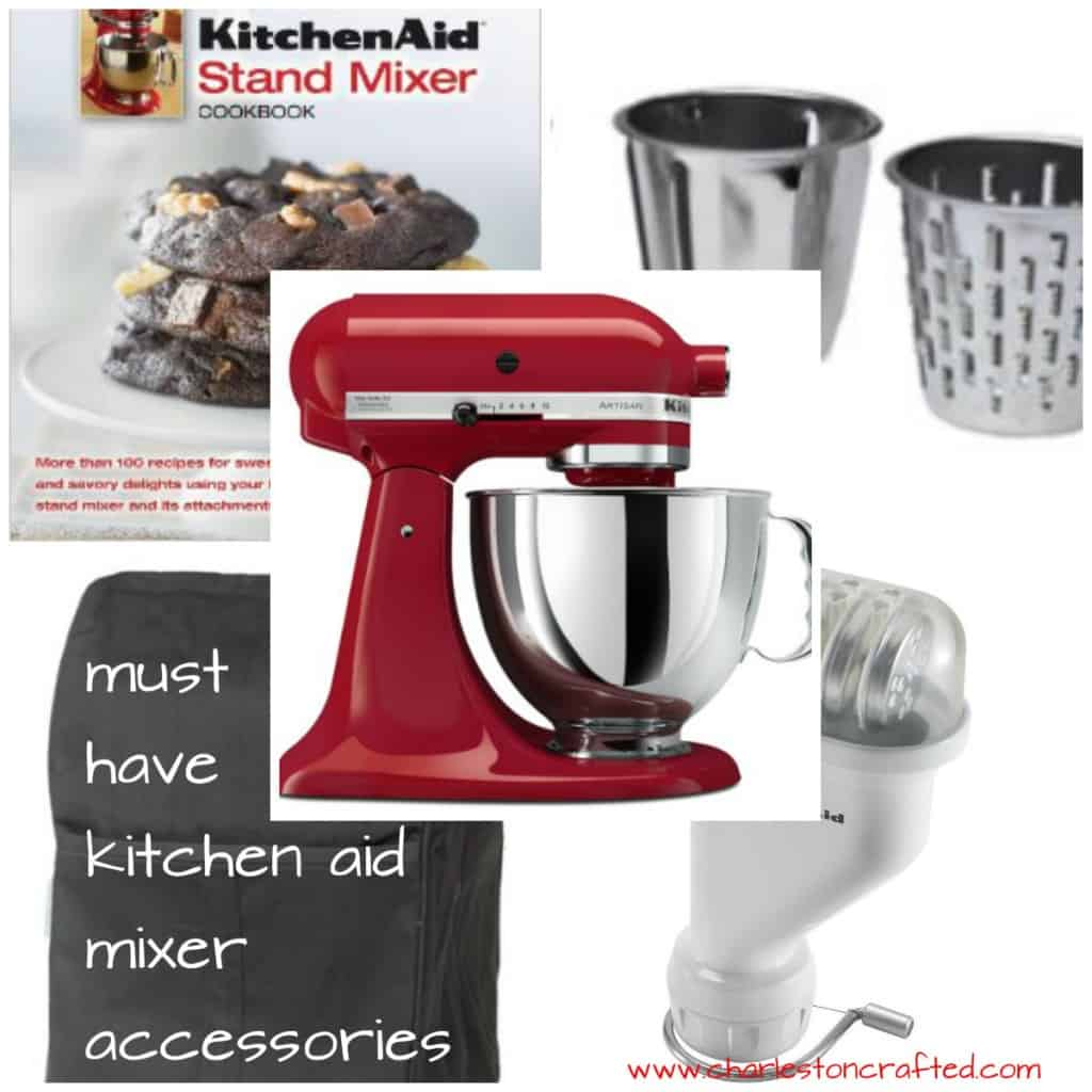 Get a Kitchenaid Mixer for Charistmas? Check out these awesome accessories to help you take full advantage of everything that it can do!