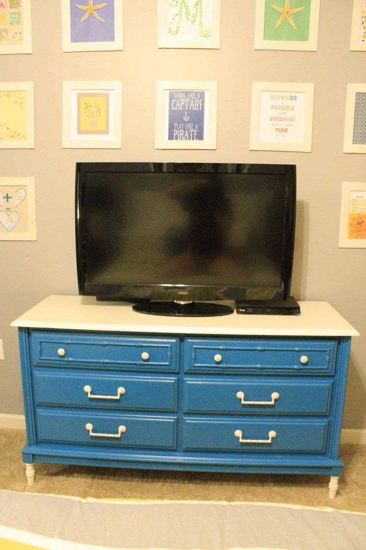 Feeling Blue? A Goodwill Dresser Makeover!