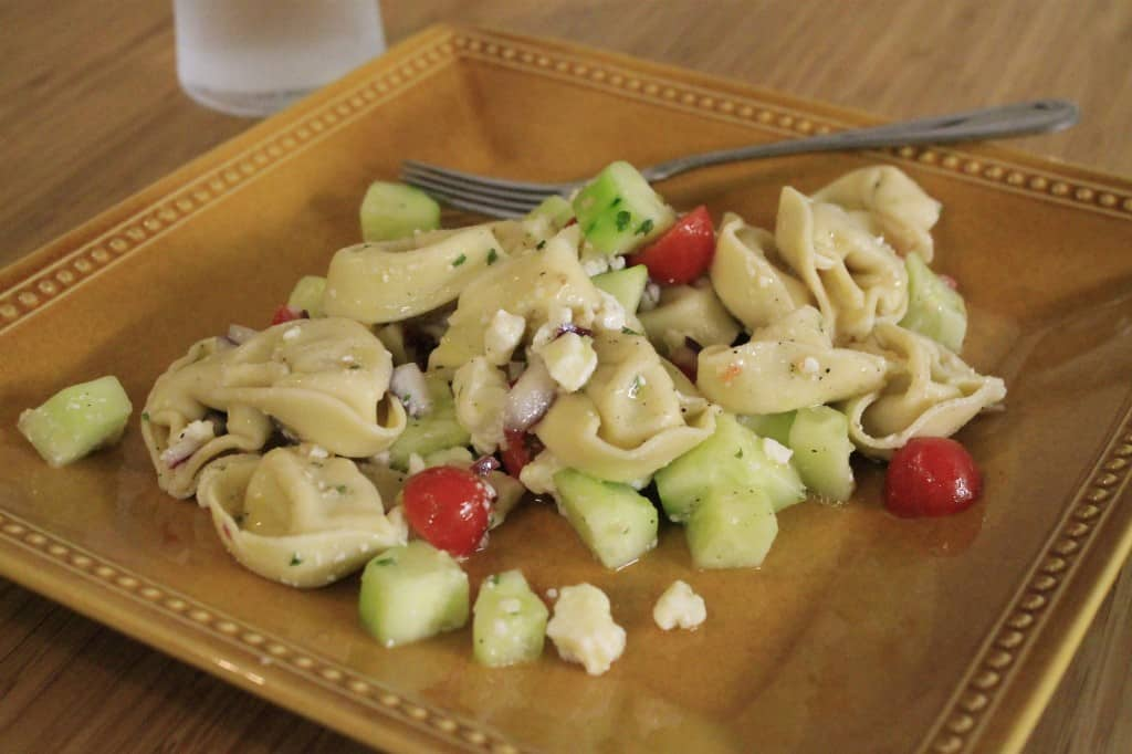 Greek Tortellini Salad - Charleston Crafted