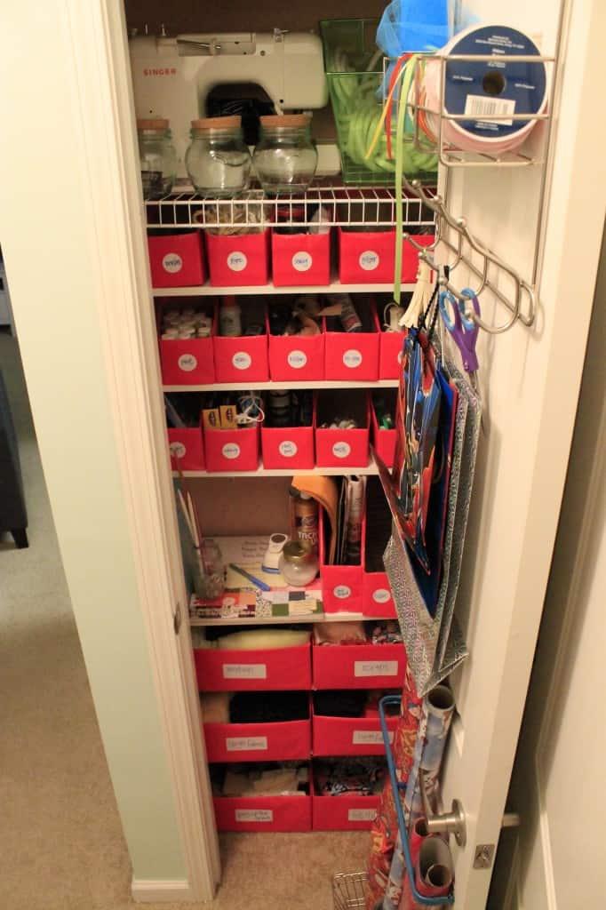 An Organized Craft Closet - Charleston Crafted