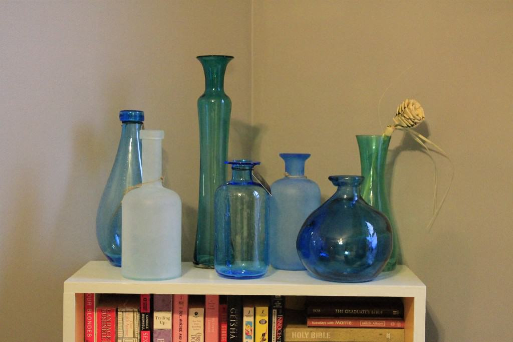 Sea Glass Vase Display - Charleston Crafted