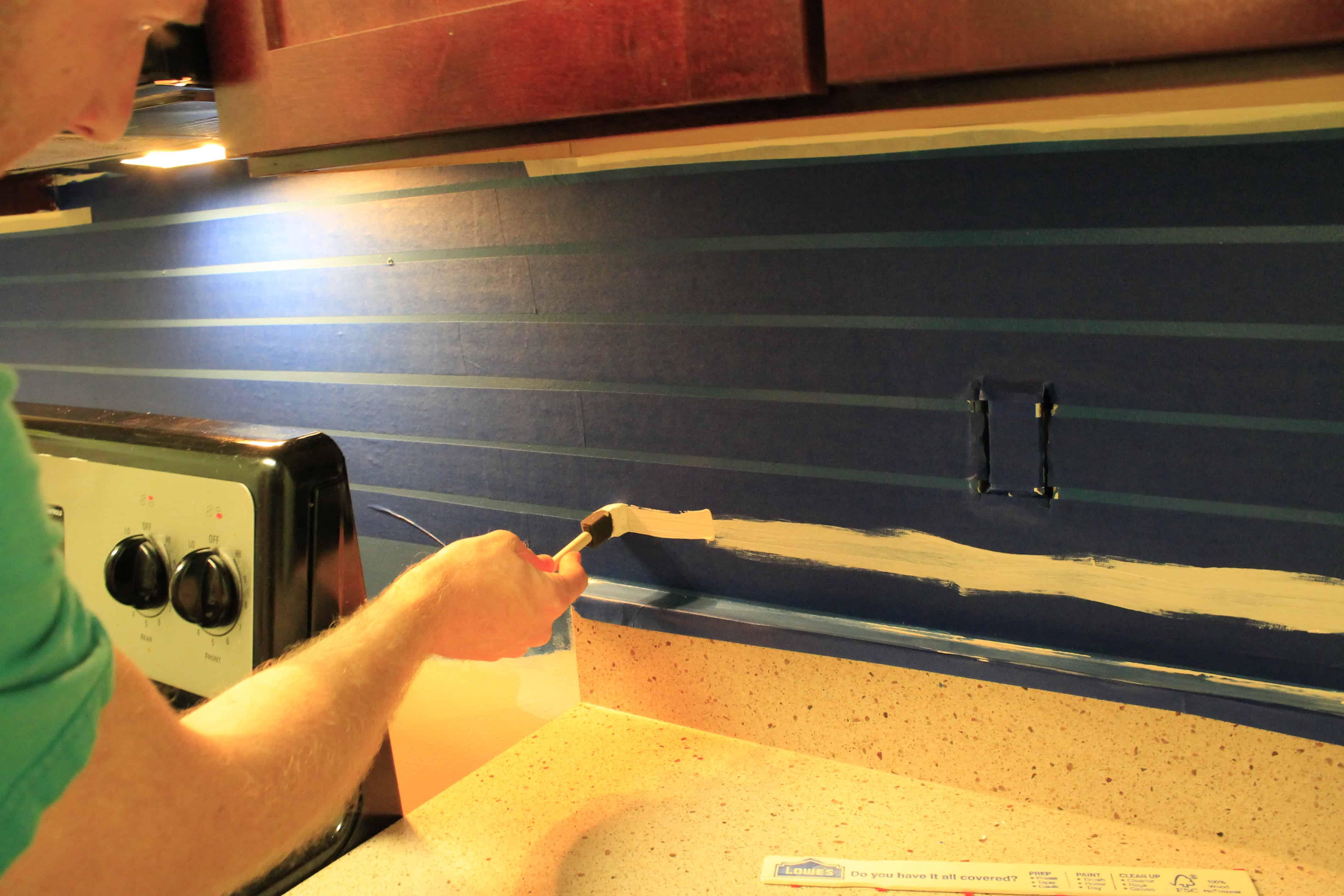 A Painted Backsplash - Charleston Crafted