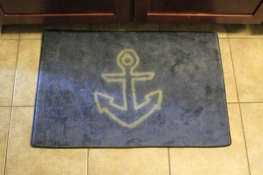 DIY Bleach Pen Anchor Mat - Charleston Crafted