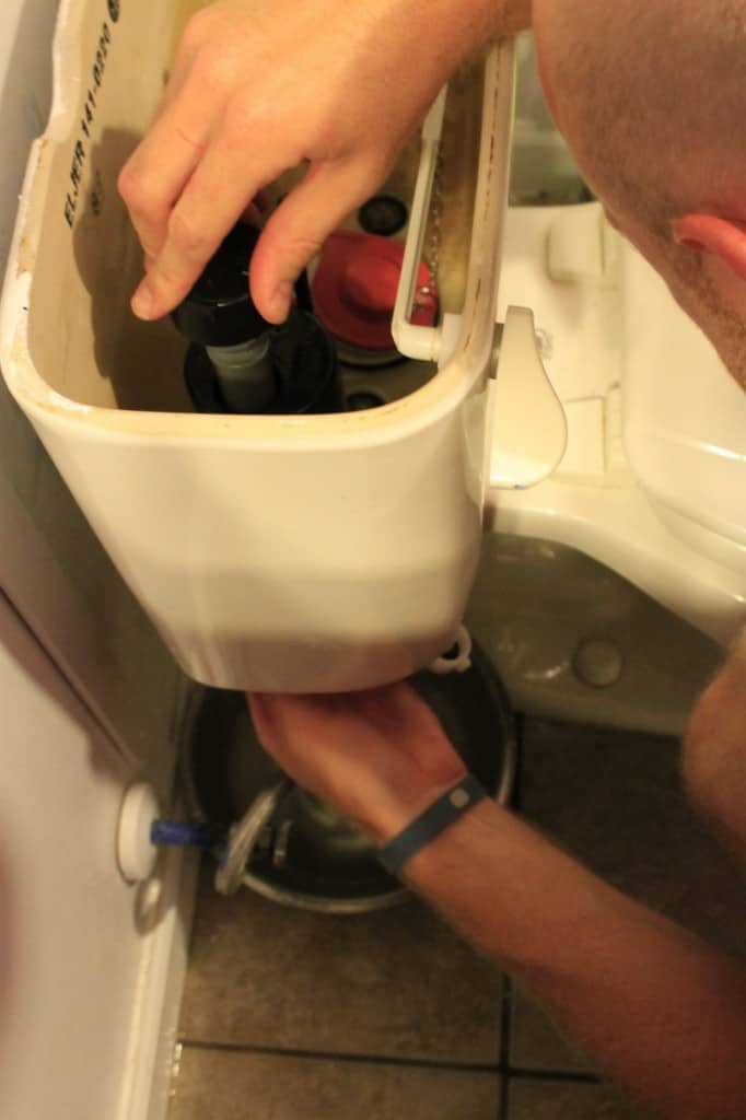 Replacing the toilet pump - Charleston Crafted