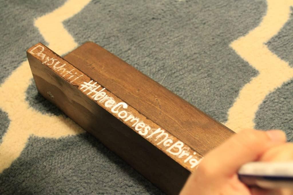 Wedding Countdown Blocks - Charleston Crafted
