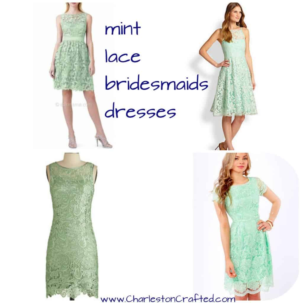 Mint Lace Bridesmaids Dresses