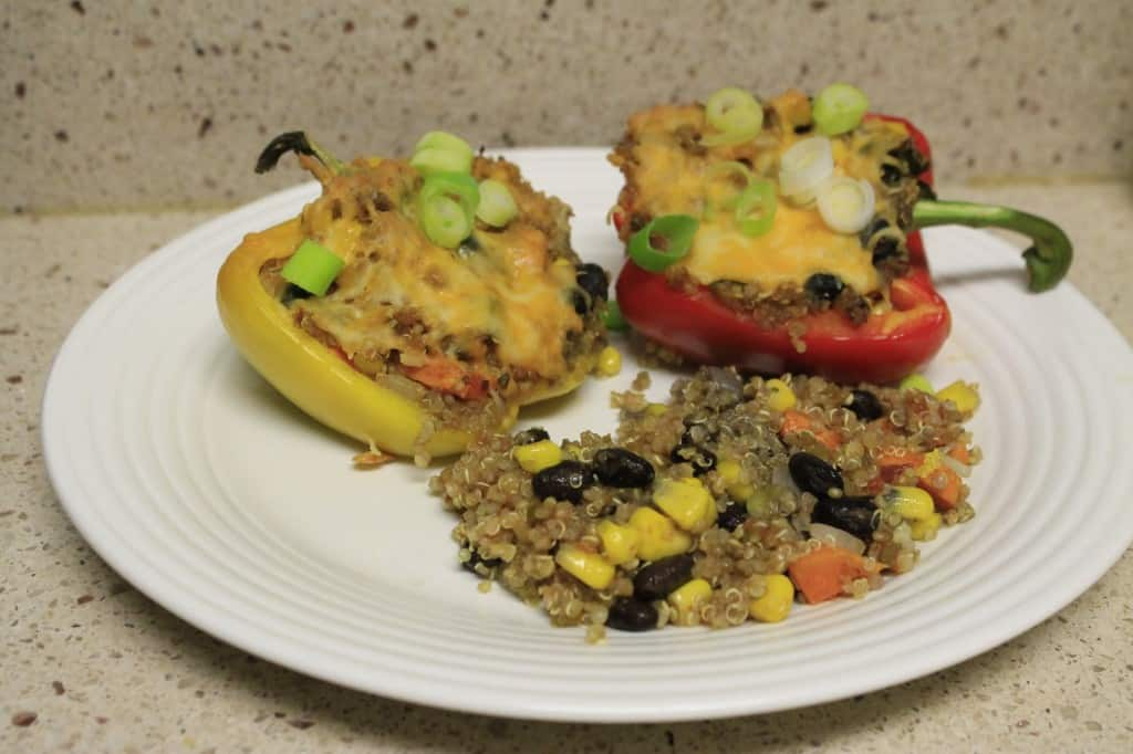 Southwestern Quinoa Stuffed Bell Peppers - Charleston Crafted