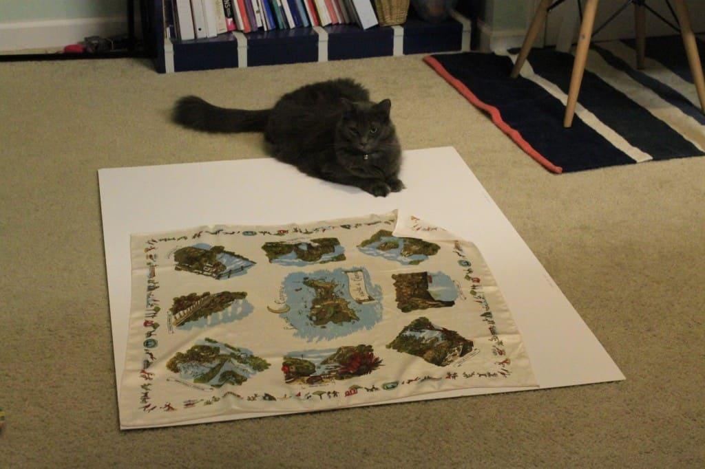 Framing a Silk Scarf - Charleston Crafted