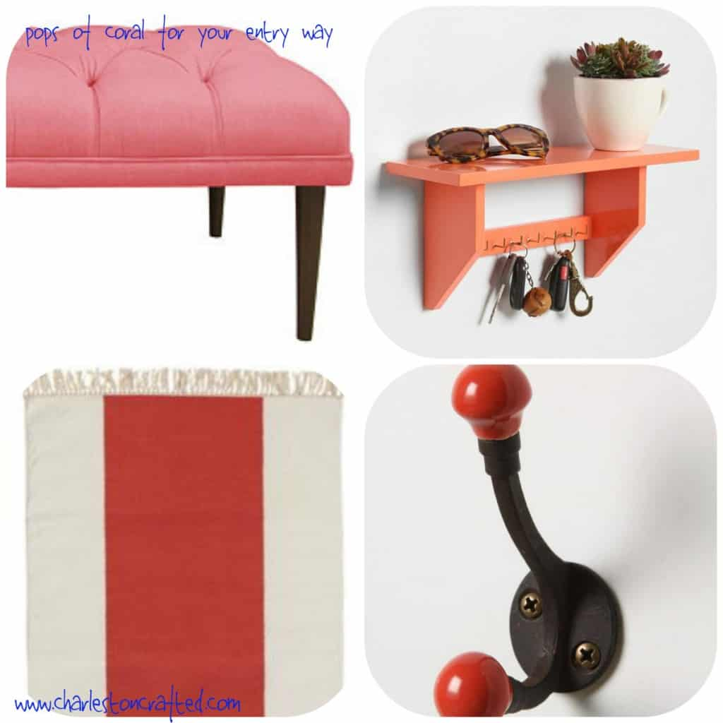 Pops of Coral for your Entry Way - Charleston Crafted