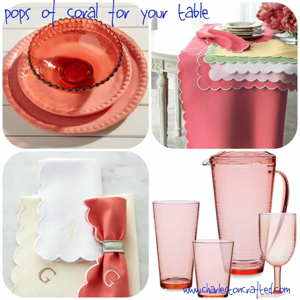 Pops of Coral for your Table - Charleston Crafted