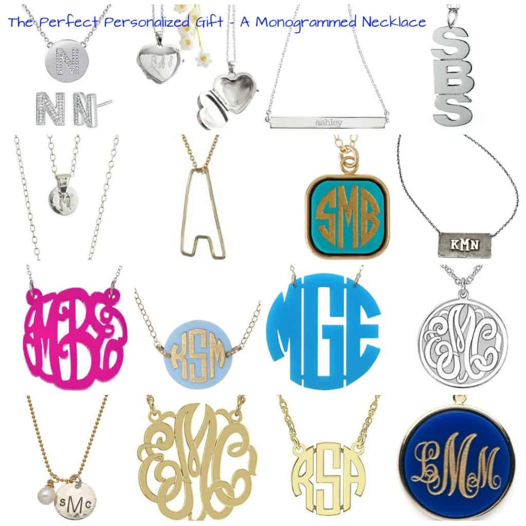 the perfect personalized gift - a monogrammed necklace - charleston crafted