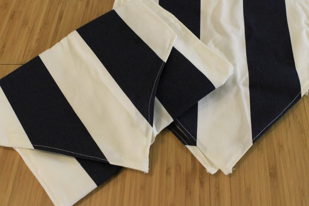 DIY Table Runner with a pointed end - charleston crafted