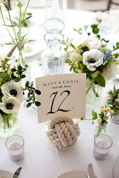 Monkey Knot Table Number - Charleston Crafted