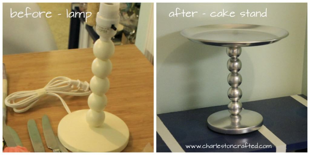 before and after cake stand