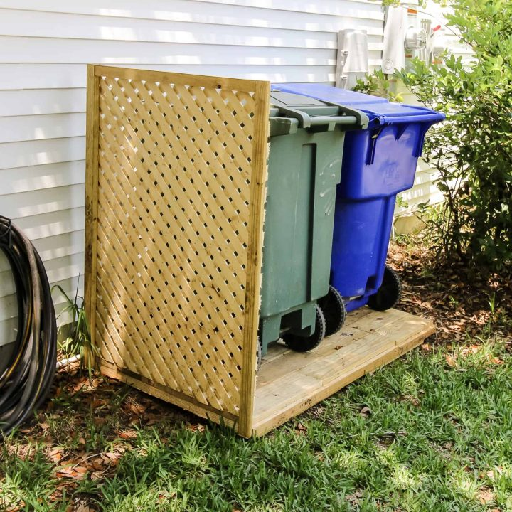 How to Hide Your Outdoor Trash Cans