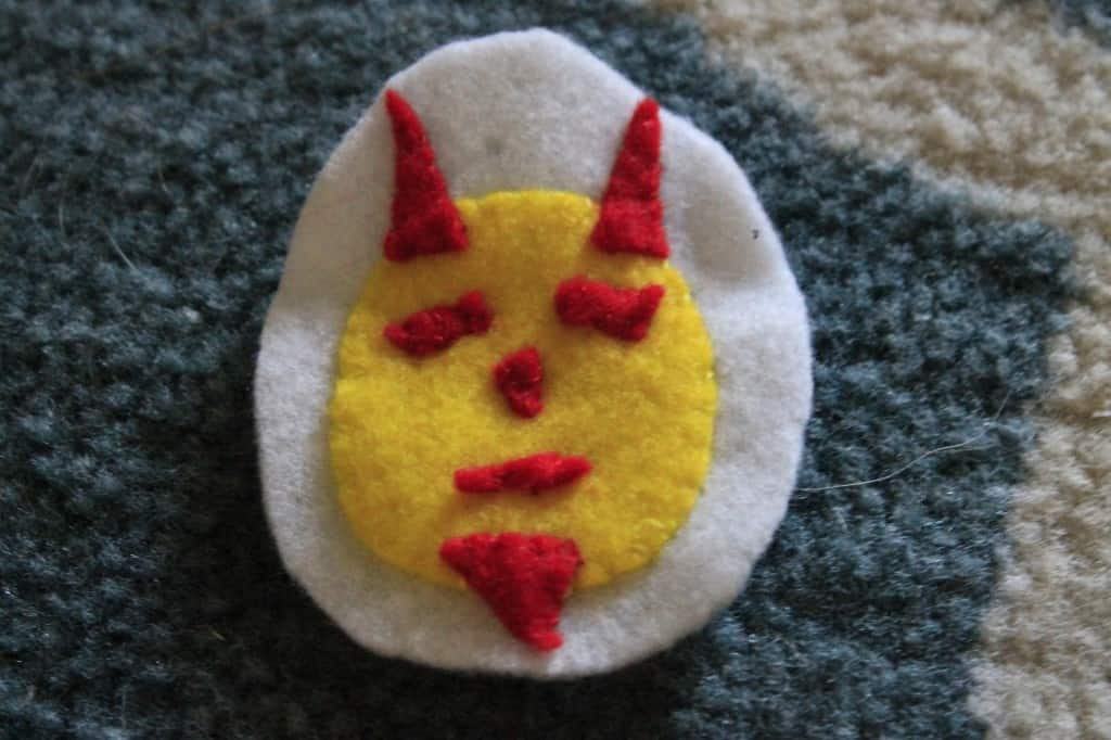 Deviled Egg Felt Ornament - Charleston Crafted