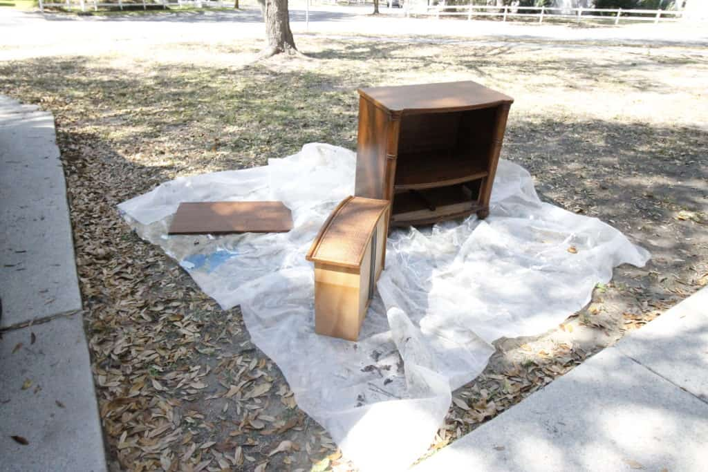 Simple Side Table Makeover with Spray Paint - Charleston Crafted