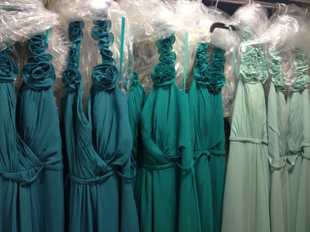 Shades of Teal Bridesmaid Dresses - Charleston Crafted