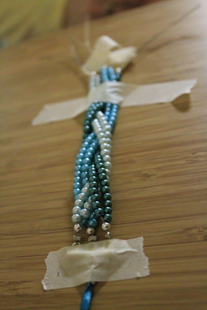 DIY Braided Pearl Bracelet Tutorial - Charleston Crafted