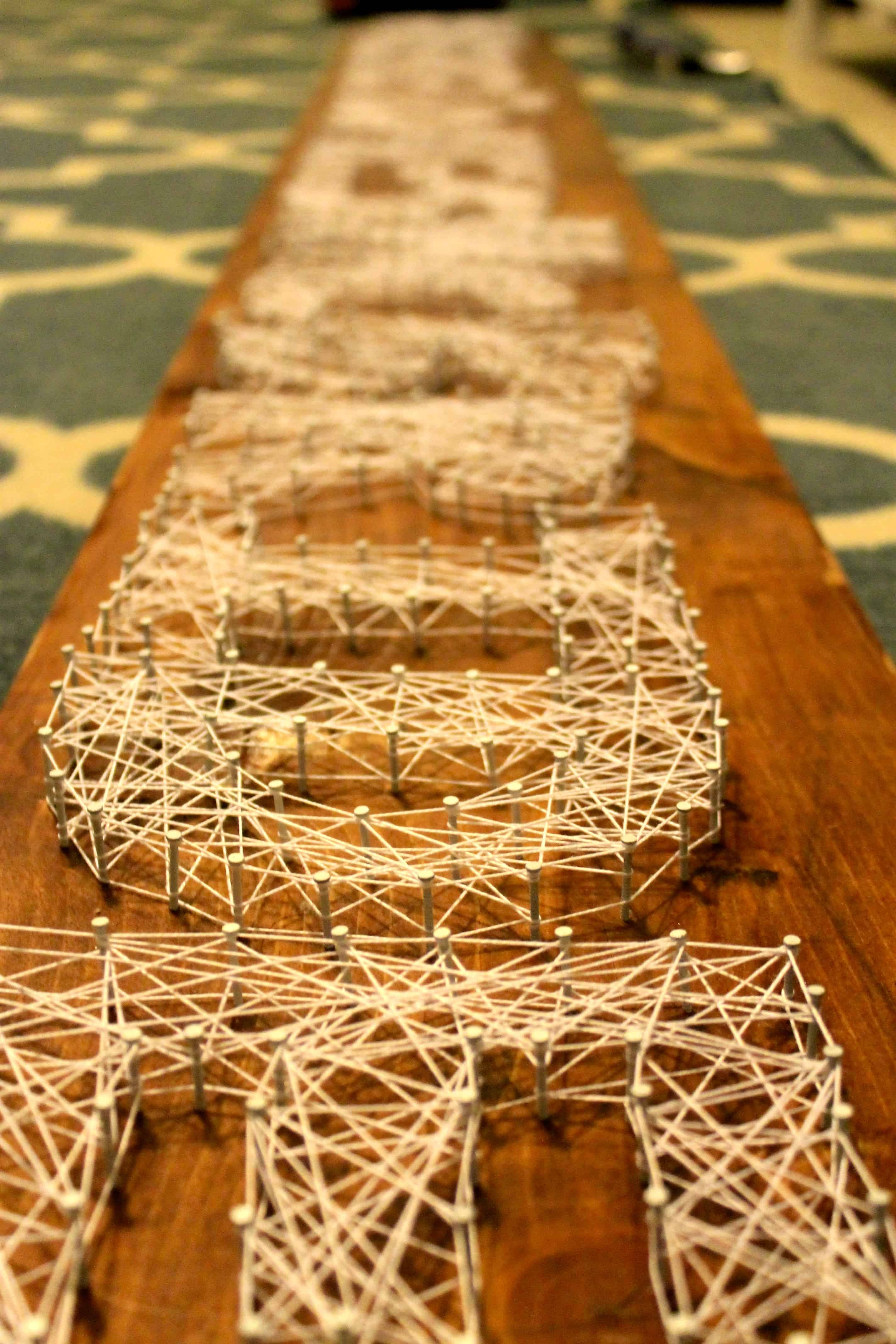 Wedding Hashtag String Art - Charleston Crafted