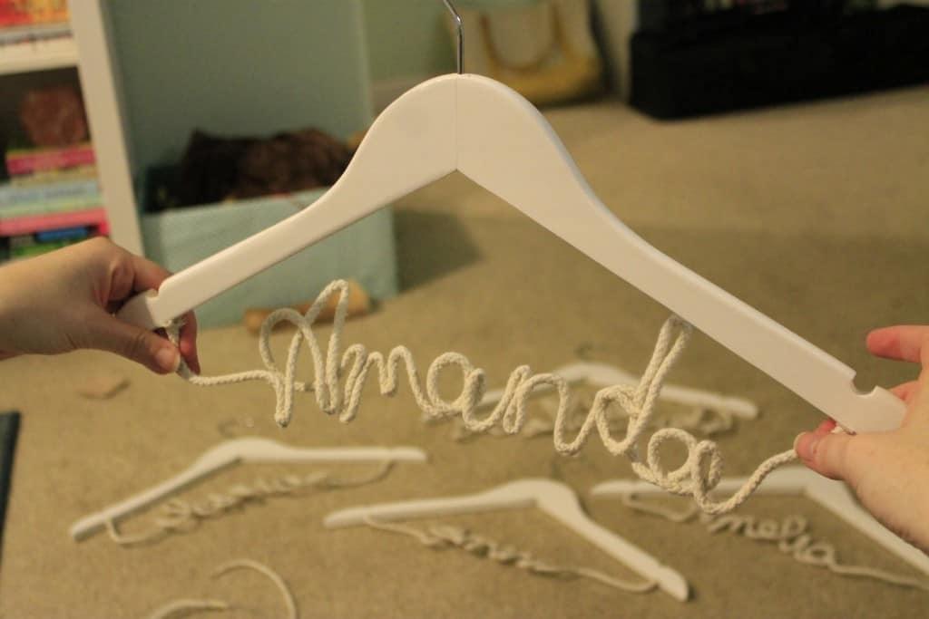 DIY Nautical Rope Bridesmaid Dress Hangers - Charleston Crafted