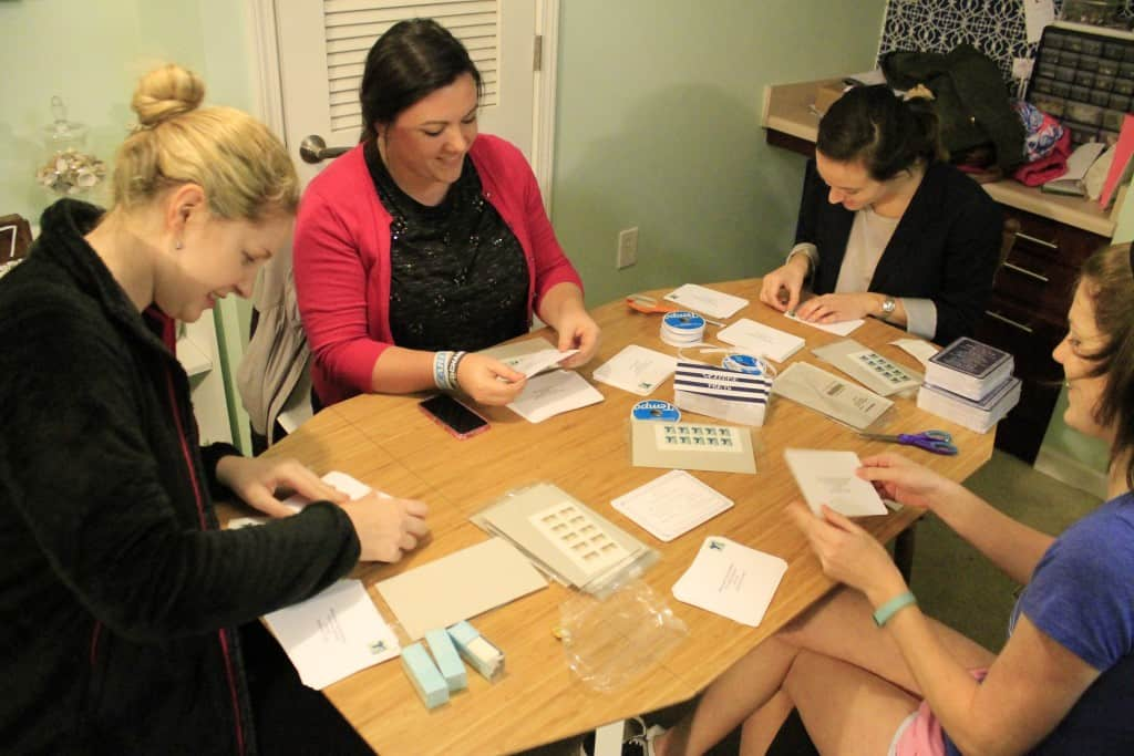 Assembling Wedding Invitations - Charleston Crafted