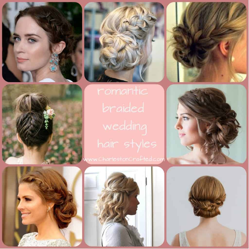 Romantic braided wedding hairstyles - Charleston Crafted