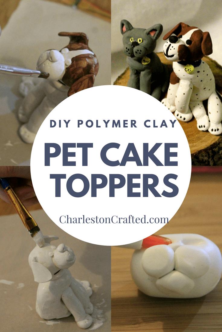 DIY Animal Figurine Polymer Clay Cake Topper via Charleston Crafted