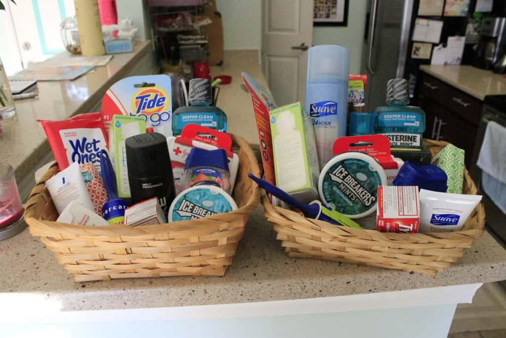 Wedding Bathroom Baskets - Charleston Crafted