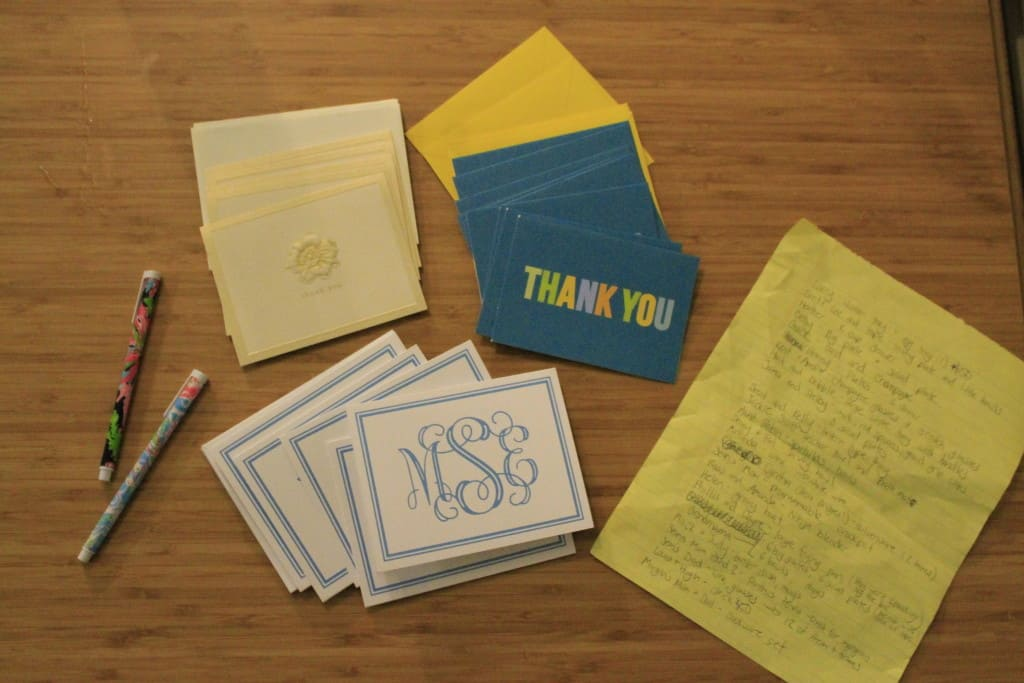 How to write wedding thank you notes - Charleston Crafted