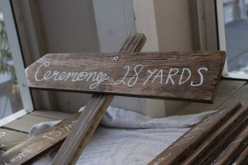 Directional Arrows Wedding Sign- Charleston Crafted