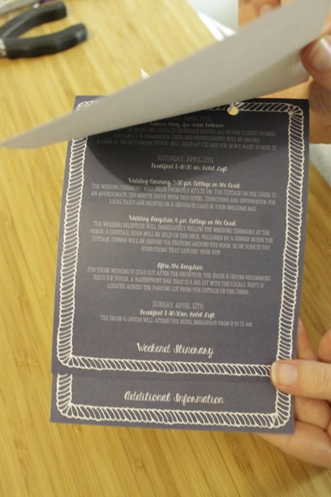 Wedding Welcome Packet - Charleston Crafted