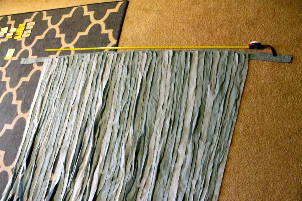 Ombre Fabric Strip Photo Booth Backdrop & Chair Decor - Charleston Crafted
