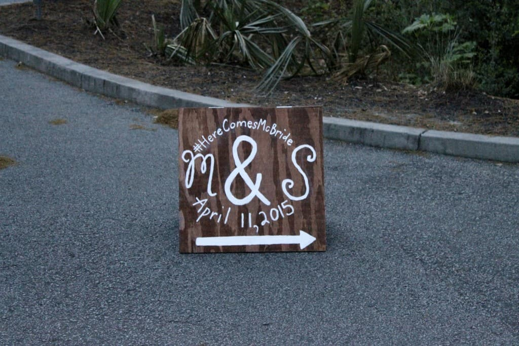 Wedding Parking Sign - Charleston Crafted
