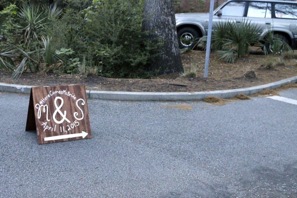 Wedding Parking Sign - Charleston Crafted
