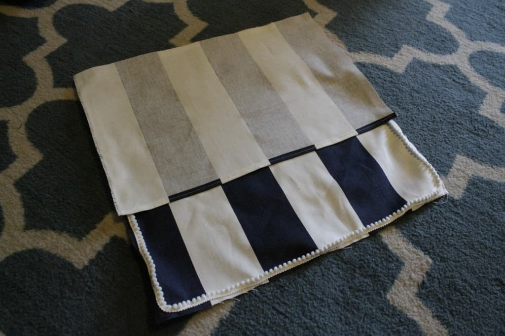 Sewing 101: Envelope Style Pillow Covers with Piping or Pom Pom Trim - Charleston Crafted