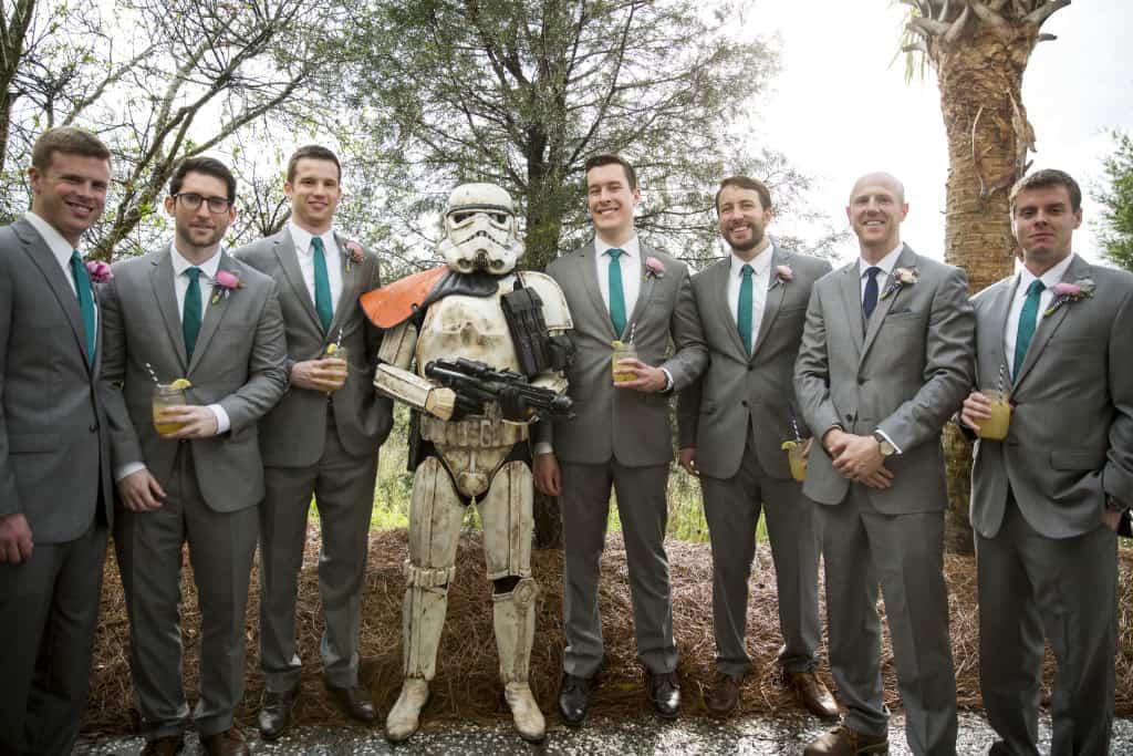 Weddign Cocktail Hour Star Wars Surprise! - Charleston Crafted