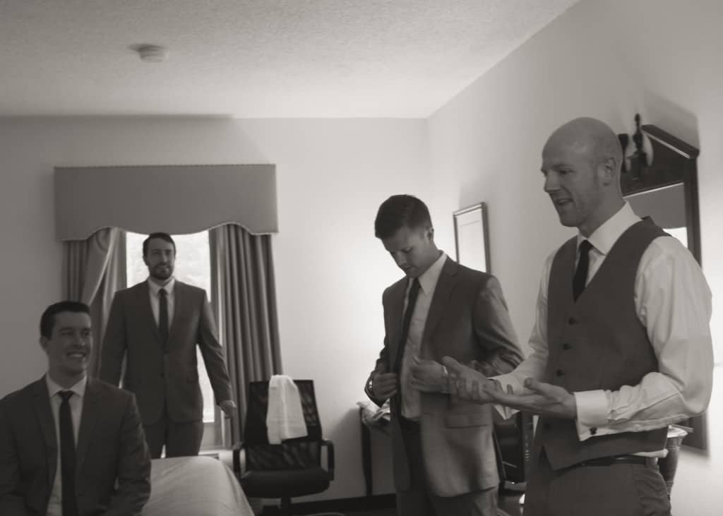 Groomsmen Getting Ready- Charleston Crafted