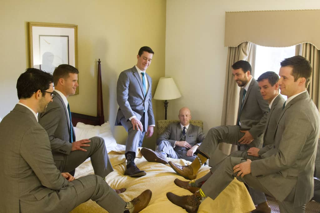 Groomsmen Getting Ready- Charleston Crafted