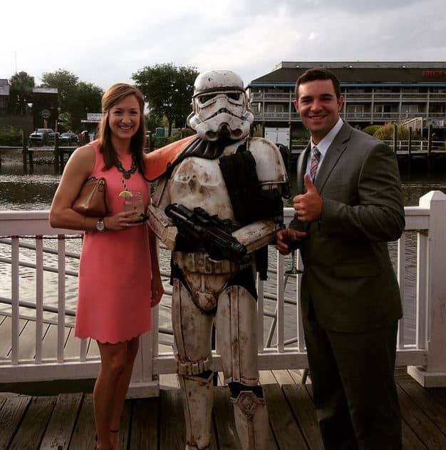 Wedding Cocktail Hour Star Wars Surprise! - Charleston Crafted