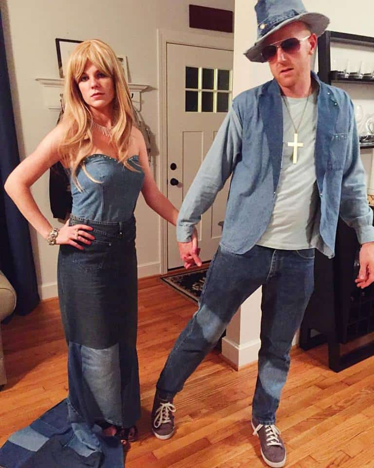 DIY Britney Spears and Justin Timberlake Denim VMAs Halloween Costume - Charleston Crafted
