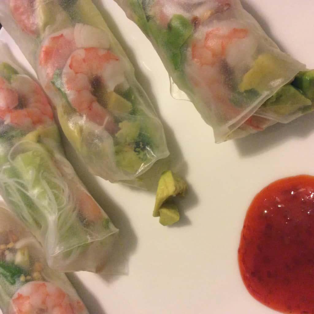 shrimp spring rolls - charleston crafted