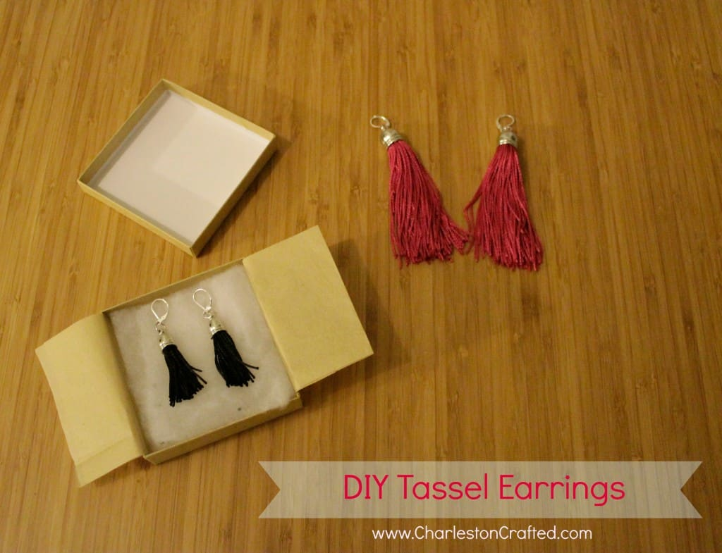 A Simple Homemade Gift Idea: DIY Tassel Earrings - Charleston Crafted