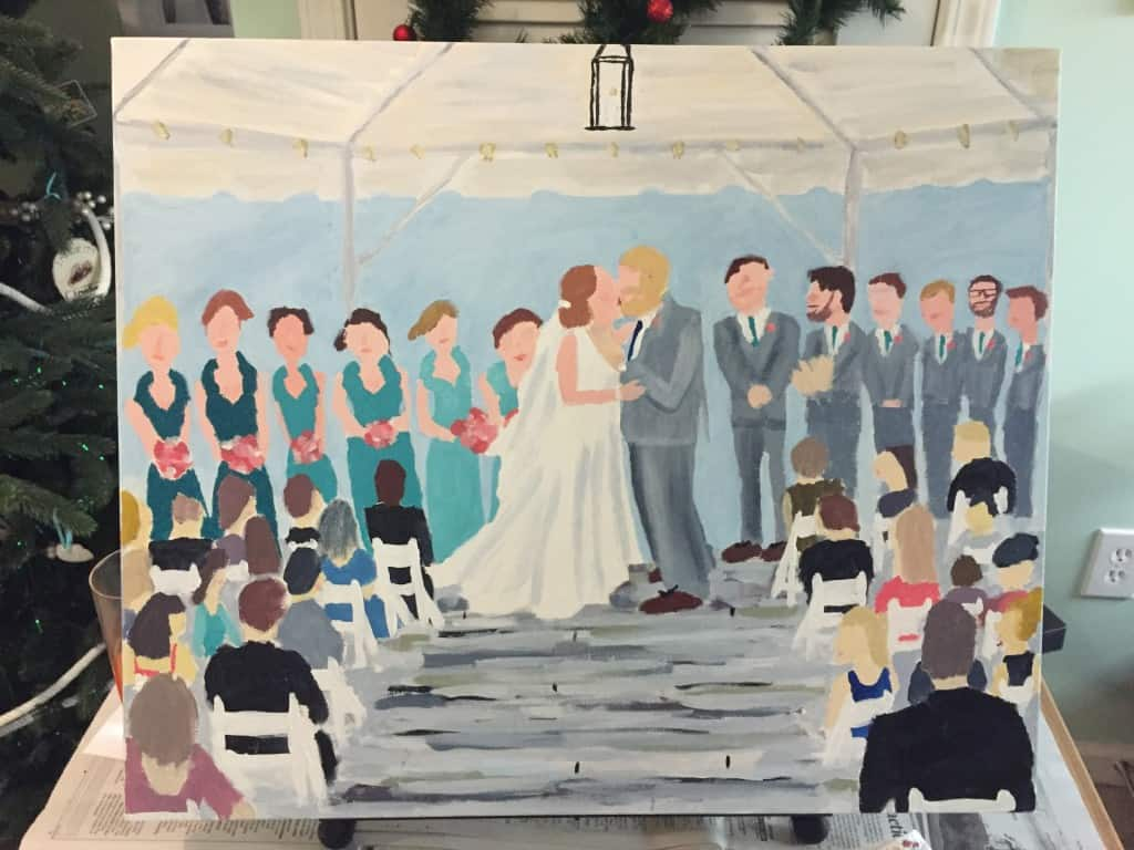 A Homemade Wedding Painting - Charleston Crafted