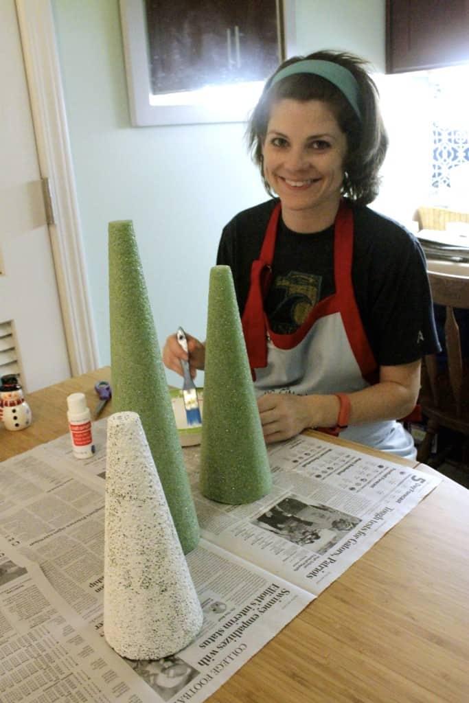 Coastal Christmas: DIY Mini Oyster Decorative Trees - Charleston Crafted