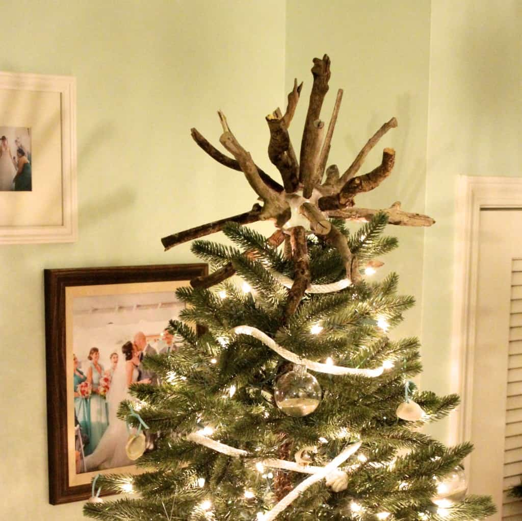 DIY Drift Wood Star Burst Tree Topper - Charleston Crafted