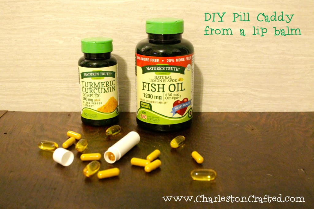 DIY Pill Caddy from a Lip Balm Canister - Charleston Crafted