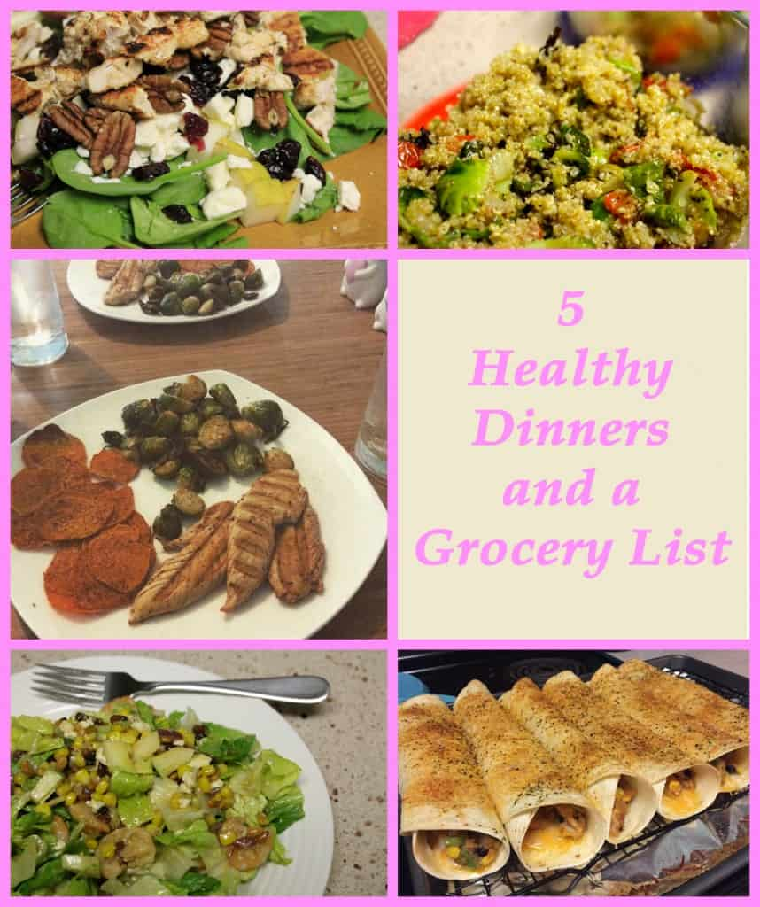 5 Healthy Dinners and a Grocery List - Charleston Crafted